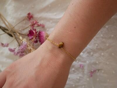 Bracelet goutte facettée