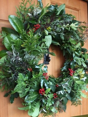 Eco Christmas Door Wreath