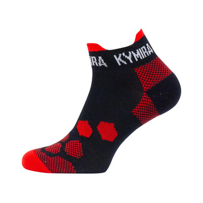 Infrared Ankle Socks - Black and Red