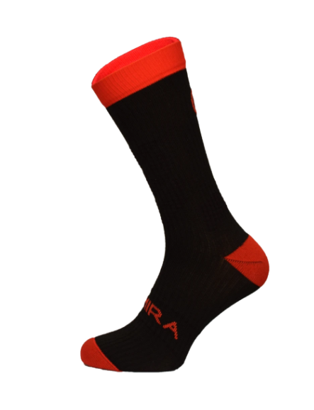 Infrared Crew Socks Red and Black