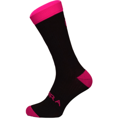 Infrared Crew Sock- Black and Pink