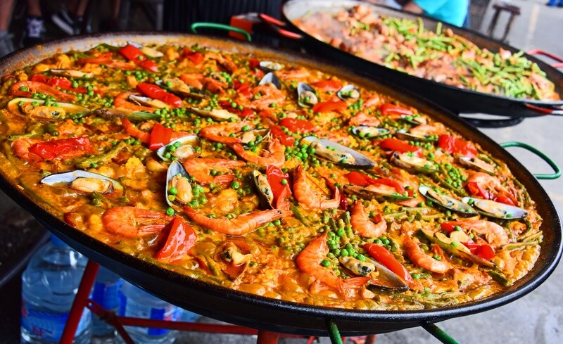 AS - Paella mixte (poulet, fruits de mer)