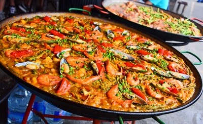 AS - Paella mixte (poulet, fruits de mer​)