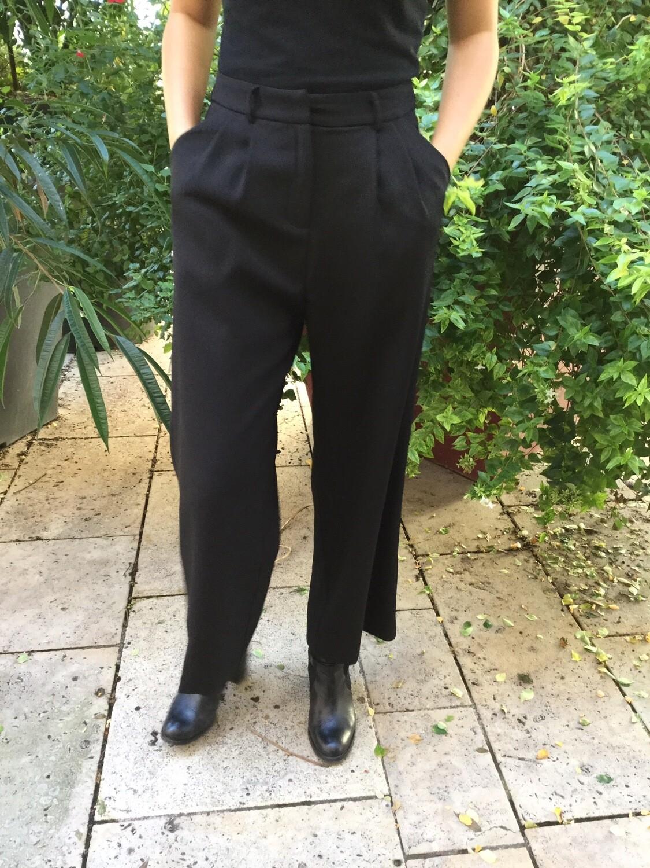 Pantalon large noir GRACE & MILA