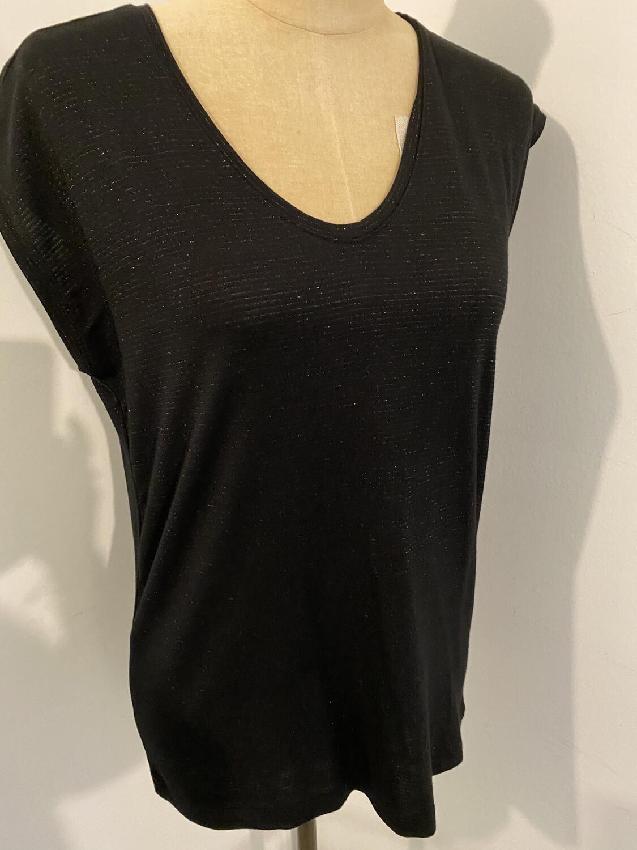 Tee shirt noir  rayures lurexPIECES