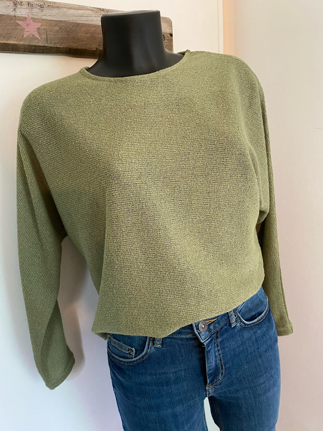Pull fin BYOUNG PRETTY vert amande