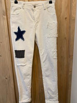 Pantalon étoile LACOMY blanc