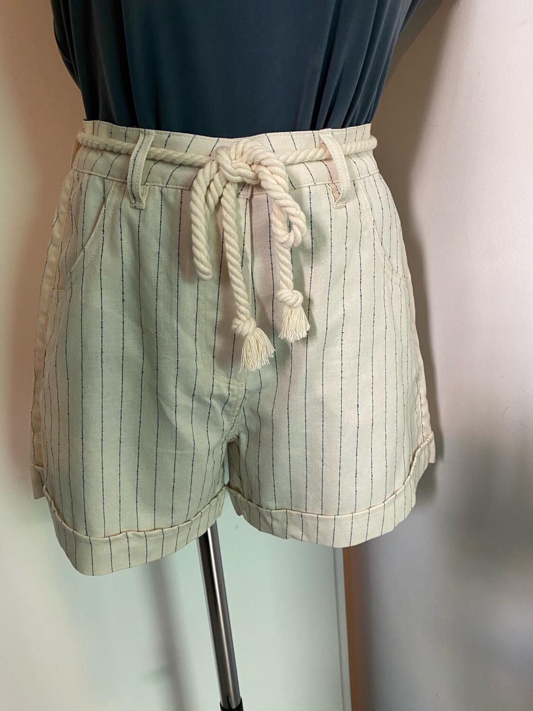 Short PIECES coton & lin
