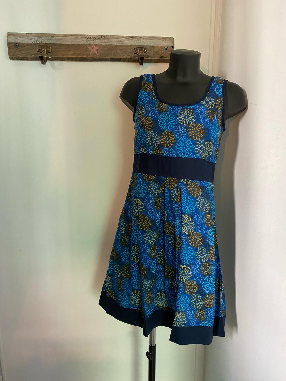 Robe courte LALITA Gauguin bleu