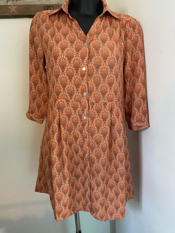 Robe chemise SARAH JOHN manches 3/4 (F2132-13