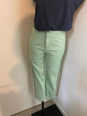 Pantalon SARAH JOHN vert d'eau liseré( CH388-30)
