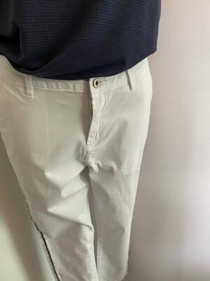 Pantalon SARAH JOHN blanc liseré