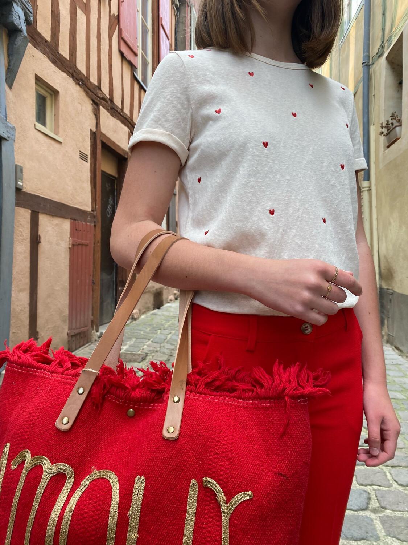 Tee shirt Cocorico GRÂCE & MILA beige