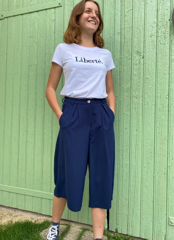 Tee shirt NOÉMIE & CO Liberté marine