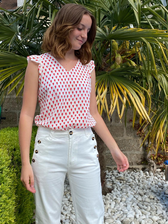 Pantalon SEASON large blanc