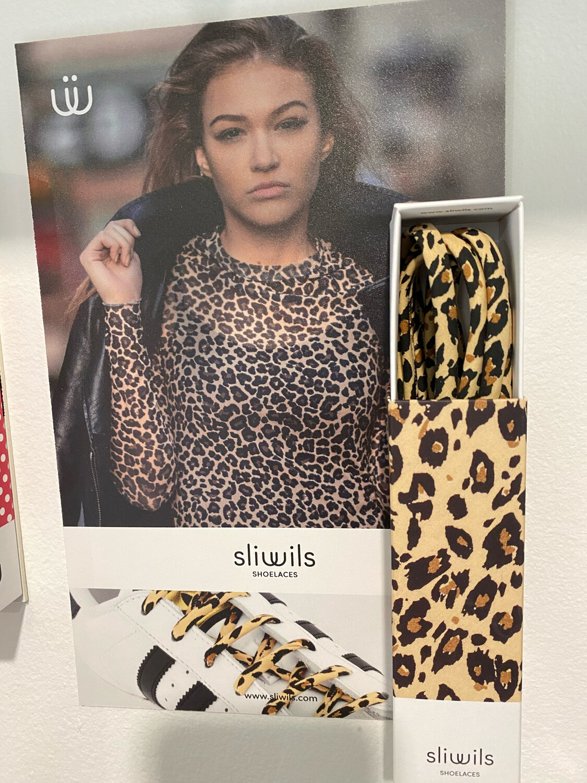 Lacets SLIWILS zèbres et léopard