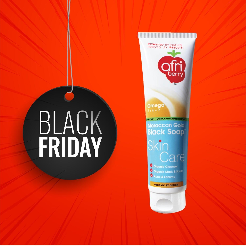 Afri-Berry Moroccan Gold Black Soap Skin Care - 150ml