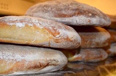 Pane a lievito madre cotto a fascine pezzi da varie pezzature 1kg o più
