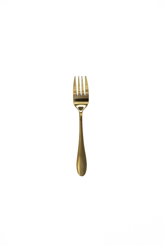 Cutlery Gold Cake Fork