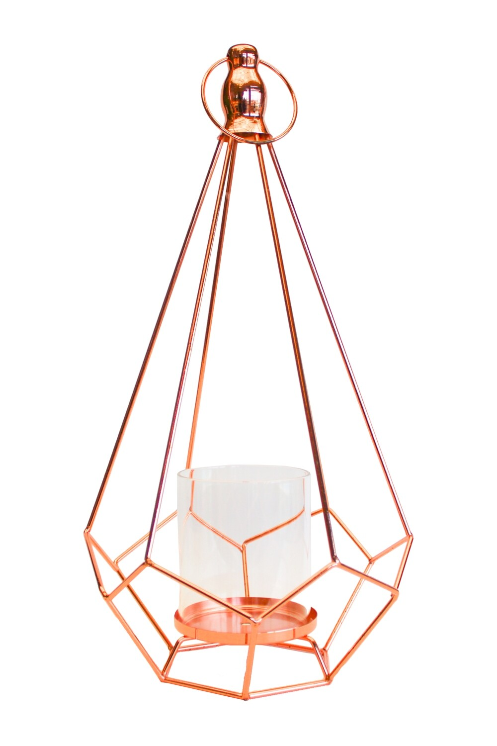 Pyramid Shape Candle Holder Rose Gold 41cm