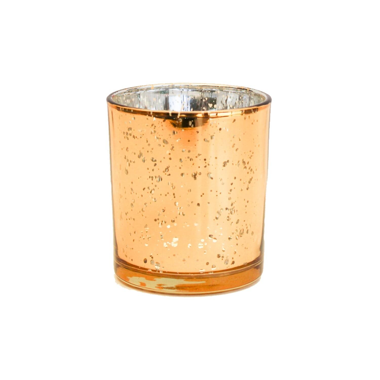 Cylinder Sparkle Votive Gold