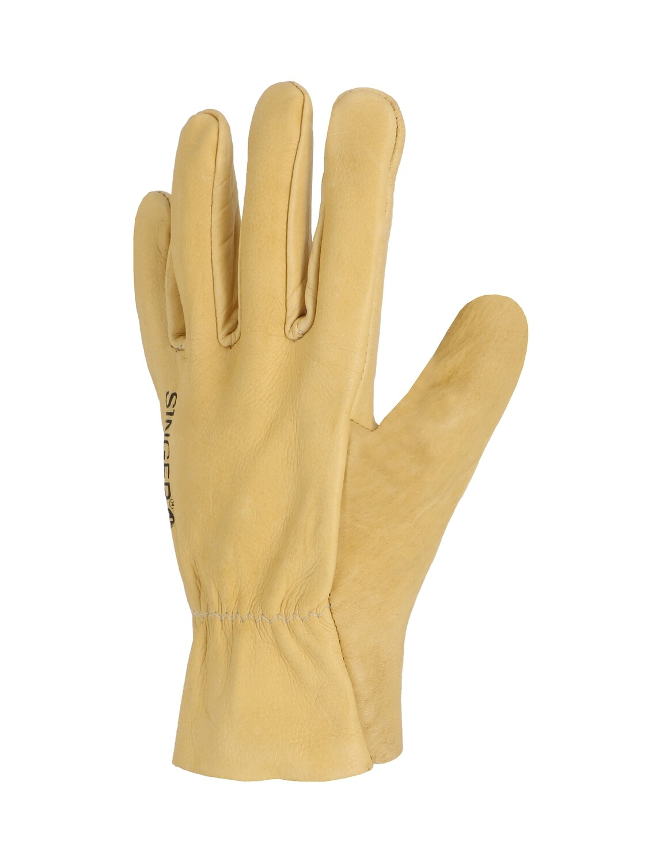 Gant tout fleur bovin beige souple. Serrage elastique. (10 paires)