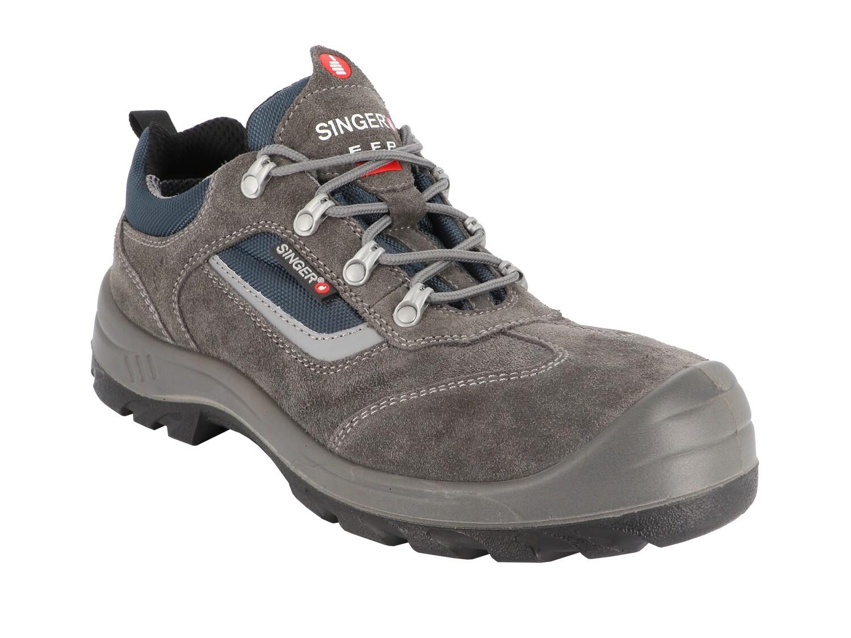 S1P SRC - Chaussures basses cuir croute velours