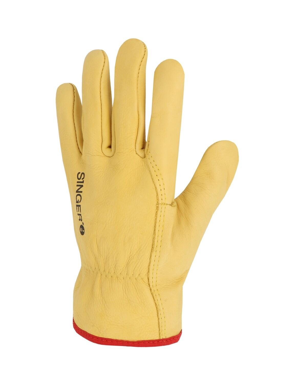 Gant tout fleur bovin jaune. Serrage elastique. (10 paires)