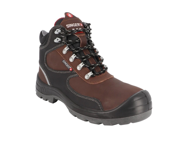 S3 SRC. Chaussures hautes cuir fleur