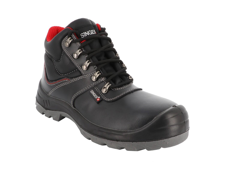 LAURO. S3 SRC. Chaussures hautes cuir fleur.