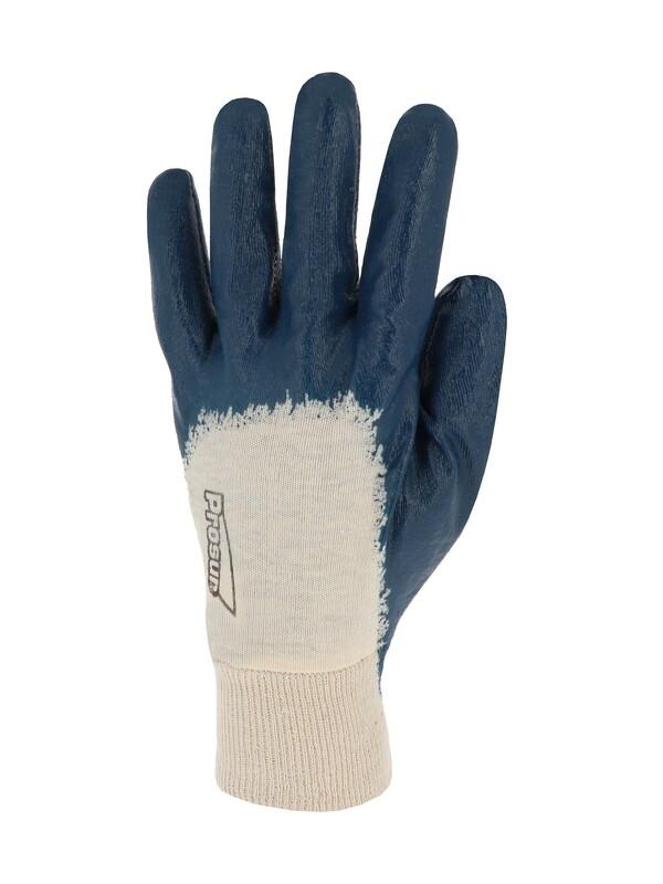 Gant nitrile (3/4). Enduction ultra-légère. Poignet tricot.