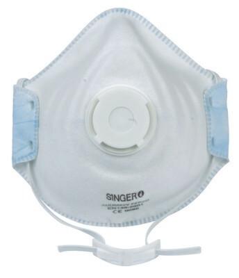 Demi-masque confort. Valve. FFP1 NR D. Boite de 10 pieces. (Paquet de 12 boites)