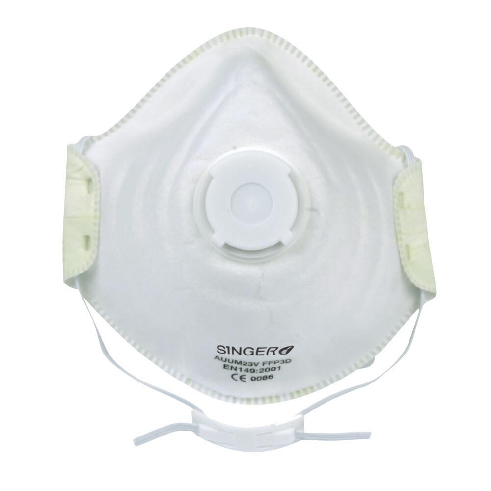 Demi-masque confort, Valve. FFP3 NR D. Boîte de 10 pièces.