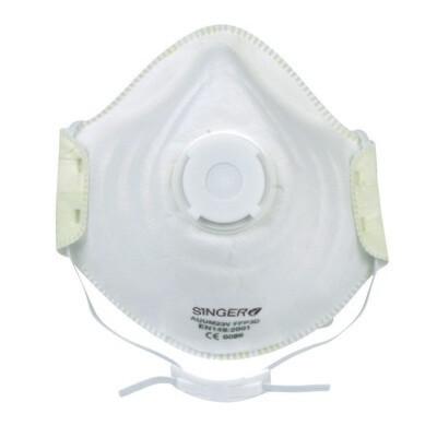 Demi-masque confort, Valve. FFP3 NR D. Boite de 10 pieces. (Paquet de 12 boites)