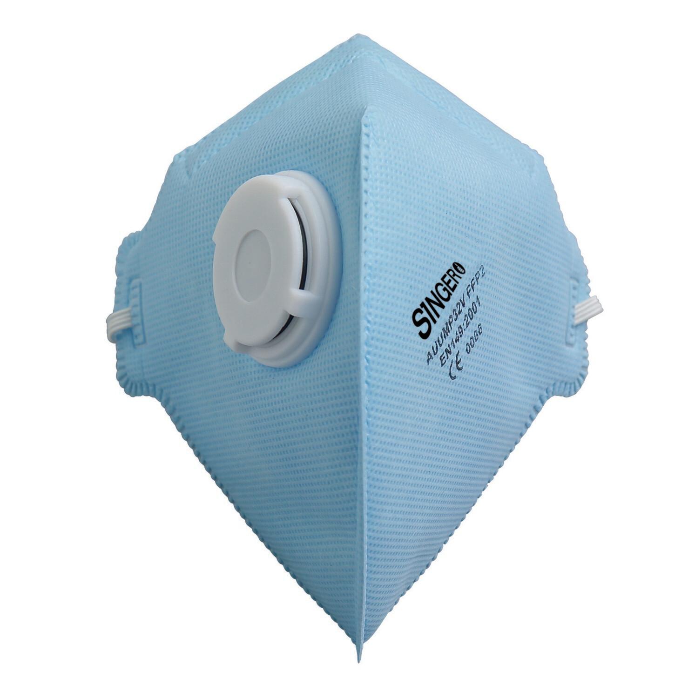 Demi-masque pliable avec valve. FFP2 NR. Boite de 20 pieces. (Paquet de 12 boites)