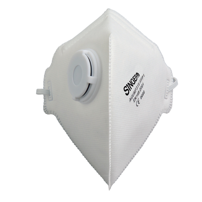 Demi-masque pliable avec valve. FFP1 NR. Boite de 20 pieces. (Paquet de 12 boites)