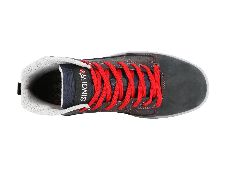 Chaussures hautes type running, cuir Nubuck. S3 SRC