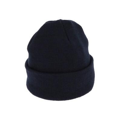 Bonnet tricoté. Acrylique. Bleu marine.