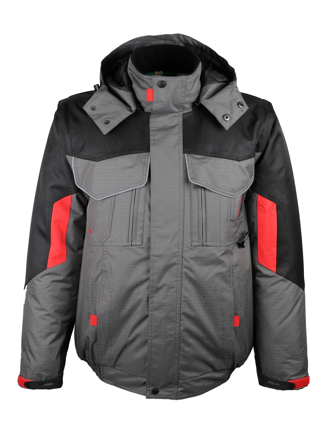 Blouson 2 x 1. Polyester Rip-Stop. Manches amovibles.