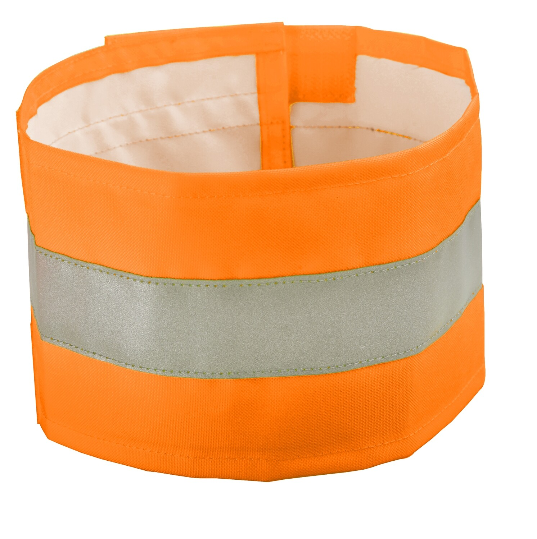Brassard haute-visibilite. Polyester enduit PU. (Paquet de 10)