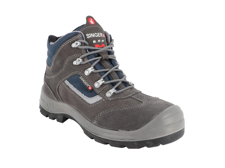 Chaussures hautes cuir croûte velours. S1P SRC