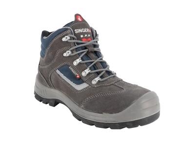 Chaussures hautes cuir croute velours. S1P SRC