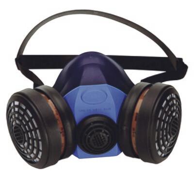 Demi-masque respiratoire. En silicone. Pour 2 filtres.