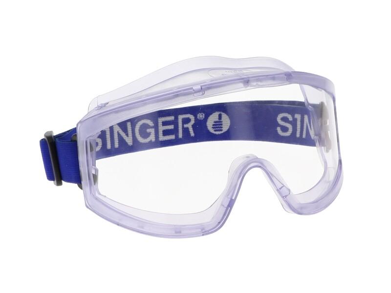 Lunettes masque de protection. Forme incurvee.  (Paquet de 10)