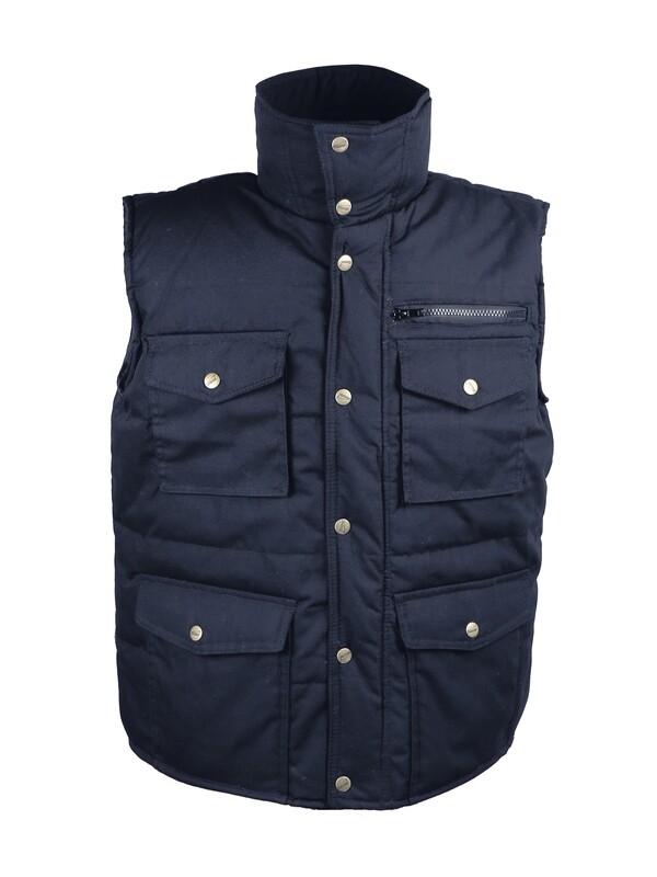 Gilet polyester/coton. Multi-poches.