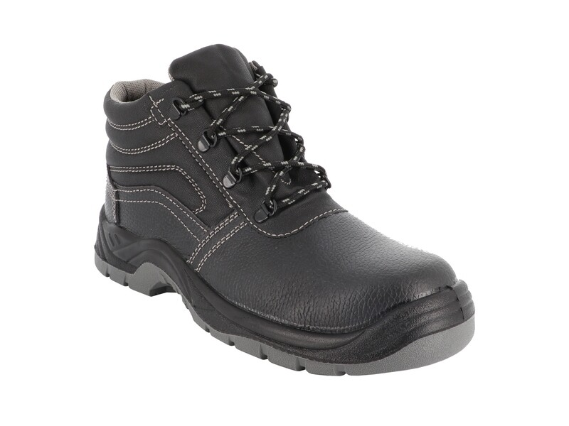 S1P SRC. Chaussures hautes cuir graine