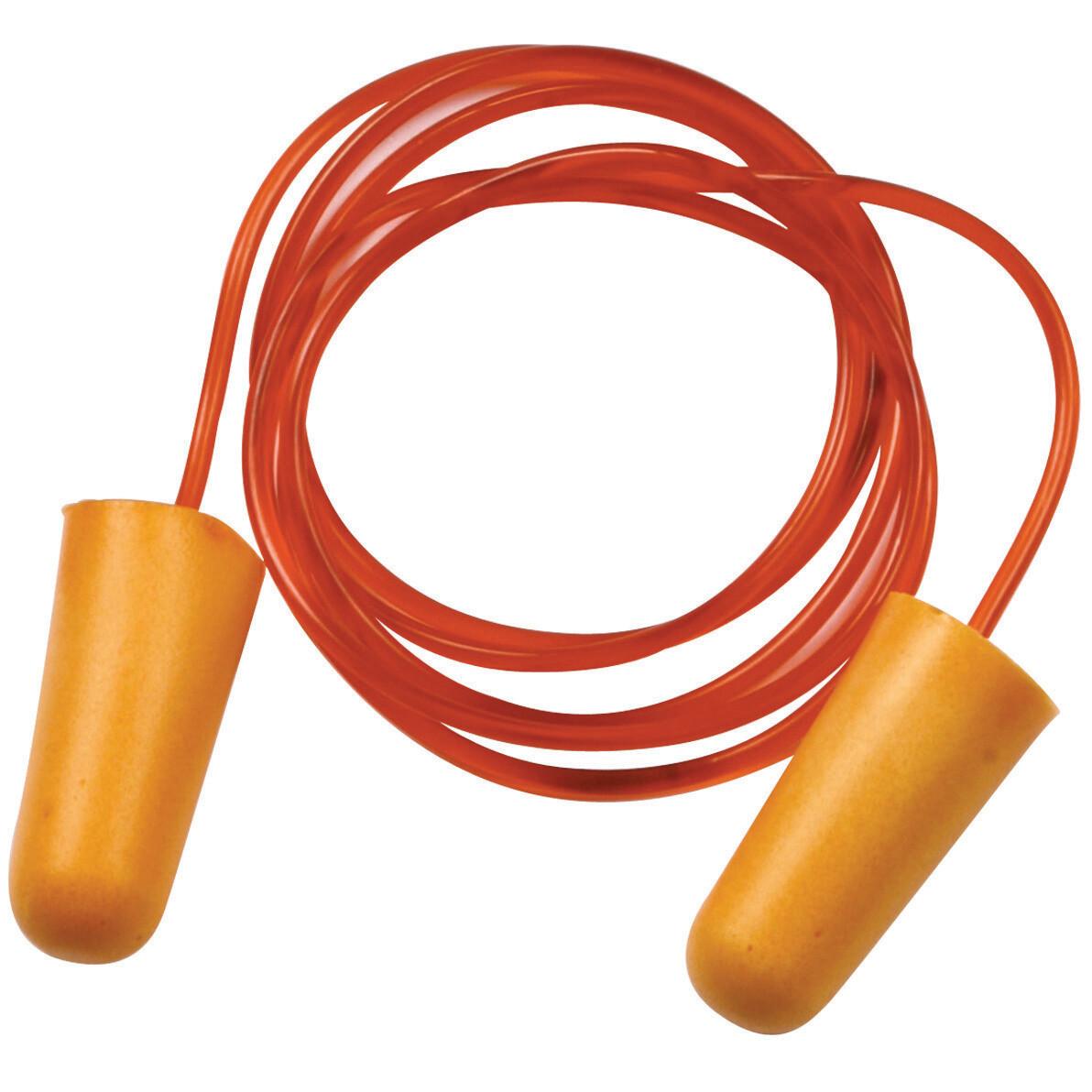 Bouchons d'oreilles cordon. PU. SNR: 34dB. Boite 200 paires