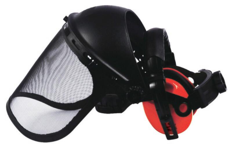 Kit protection visage. Visière + antibruit 27,6 dB