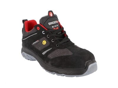 S1P-SRC. Chaussures cuir croute & mesh.ESD.