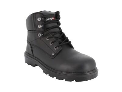 Chaussures hautes cuir fleur. S3 SRC